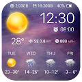 Clock & Weather - Universe