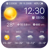 Clock & Weather - Universe APK for Bluestacks