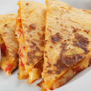 Shrimp-Vegetable Quesadillas