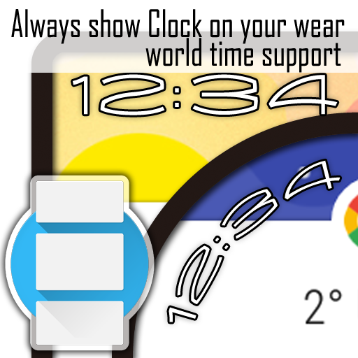 OnTop Clock for Android Wear