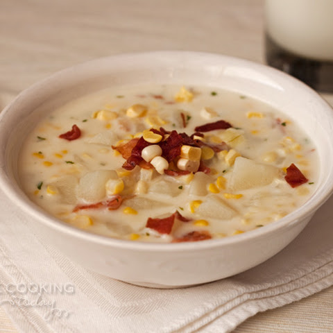 Fresh Corn Chowder in the Pressure Cooker