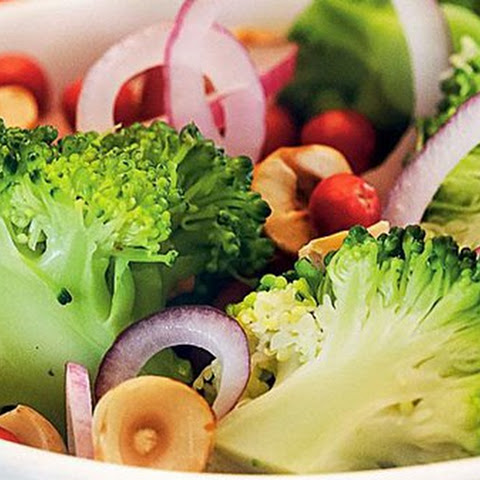 Weight loss, Healthy food, Broccoli Salad with cranberries and hazelnuts