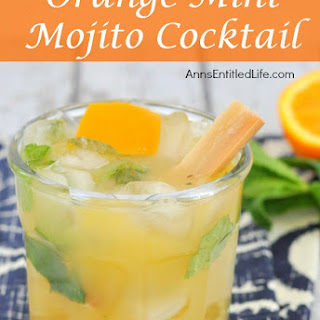 Orange Mint Mojito Cocktail