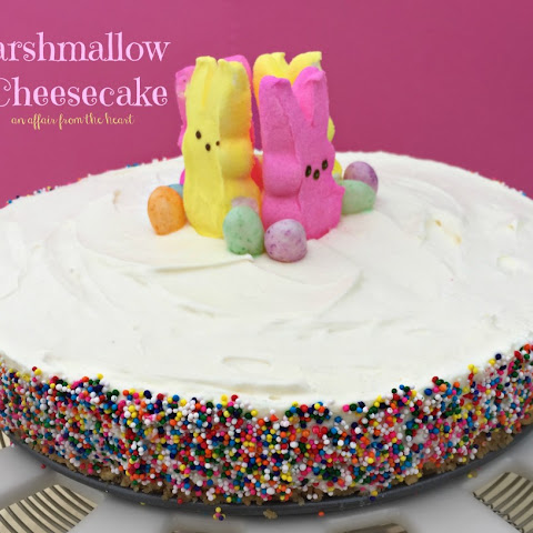 {no bake} Marshmallow Cheesecake