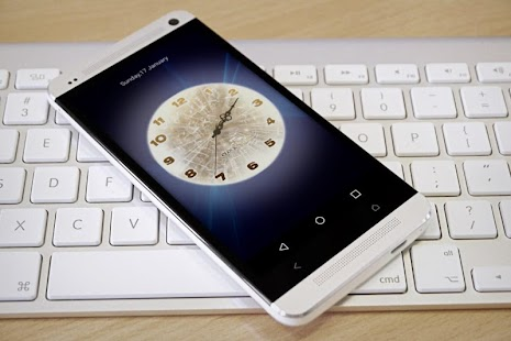 how to change lock screen clock android