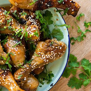 Sticky Honey, Orange And Sesame Chicken Drums