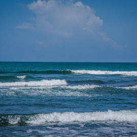 Caribbean Coast 2 by Laurie Crosson - Landscapes Beaches ( waves, beach scene, caribbean coast, beach, costa rica )