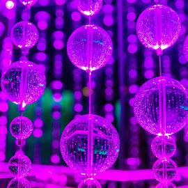 Purple Crystals by Tina Hailey - Abstract Macro ( macro, purple, tinas captured moments, glass, crystal )