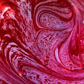SWEET GIMMICK by Marinka Pockaj - Abstract Macro ( abstract, macro, red, marinka, bubbles )