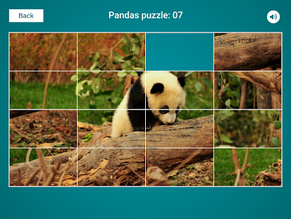 Pandas Sliding Jigsaw Screenshot