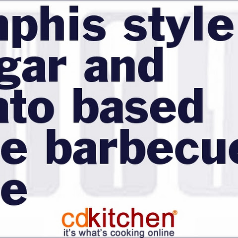 Memphis-Style Vinegar And Tomato-Based Sauce Barbecue Sauce