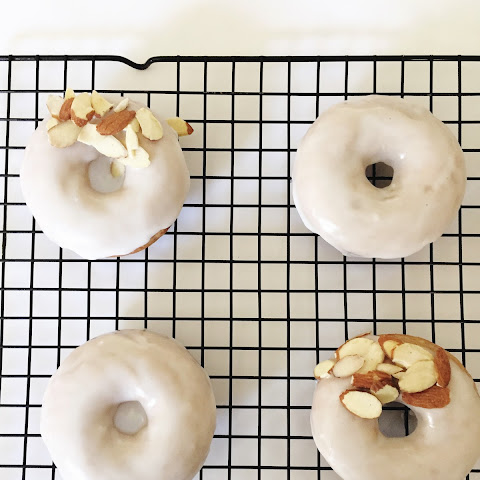 Chai Donuts with Almond Glaze