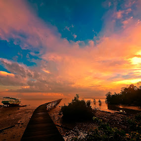 Kampong Sungai Obar in Sandakan by Armie YS Yusop Teppo - Landscapes Sunsets & Sunrises