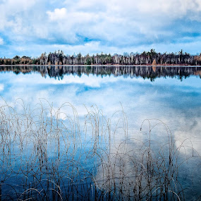 Mirror of Loon Lake by Kevin Stacey - Landscapes Waterscapes ( clouds, mirror, michigan, sleeping bear dunes, national lakeshore, lake )