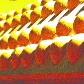 Mining rusher by Kaye Petersen - Abstract Patterns ( mining, machinery, crusher, lead, equipment, yellow, gold,  )