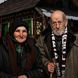 old couple by Ionel Covariuc - People Couples ( picture, mother, grandfather, artistic, couple, women, portrait, grandmother, man, father )