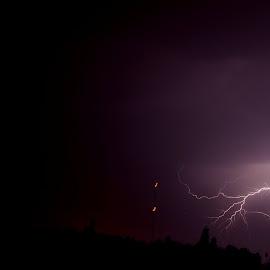 lightning by Nelson Coelho - City,  Street & Park  Vistas