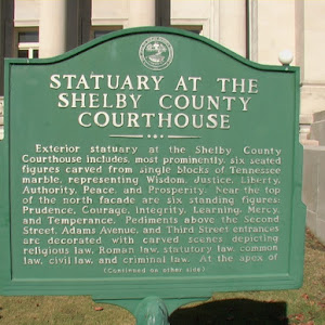 Statuary At The Shelby County Courthouse