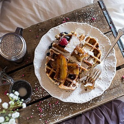 Whole-Wheat Belgian Chocolate Chip Waffles
