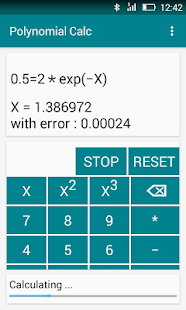 Polynomial Calc - screenshot