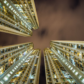 Your Place Or Mine? by Gary Piazza - Buildings & Architecture Homes ( sony, hong kong, asia, buildings, architecture, apartments )