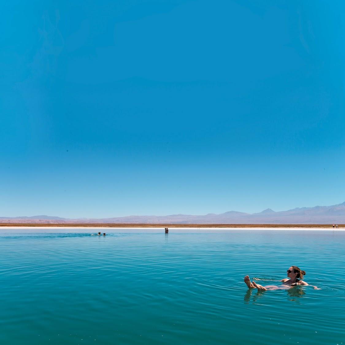 Laguna Cejar, a small icy lagoon