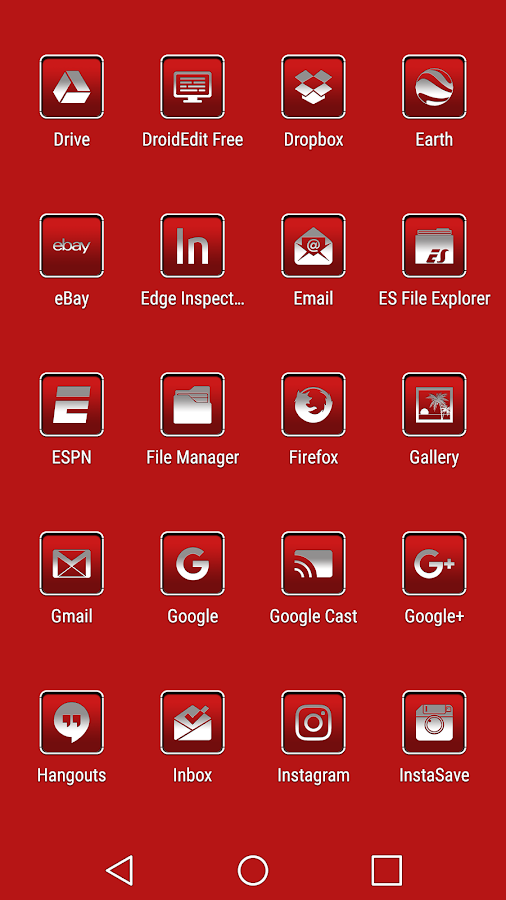 oNe1 Red - Icon Pack Screenshot 3