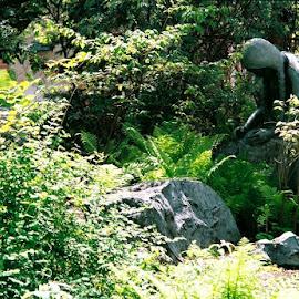Sacajewea by Nancy Bowen - Novices Only Landscapes ( lewis and clark, washington, university, statue )