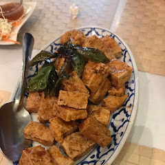 Fried crispy tofu