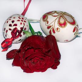 easter eggs with rose by LADOCKi Elvira - Public Holidays Easter ( easter egg, easter )