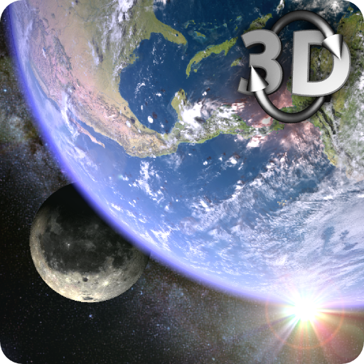 Earth & Moon in HD Gyro 3D Parallax Live Wallpaper (app)