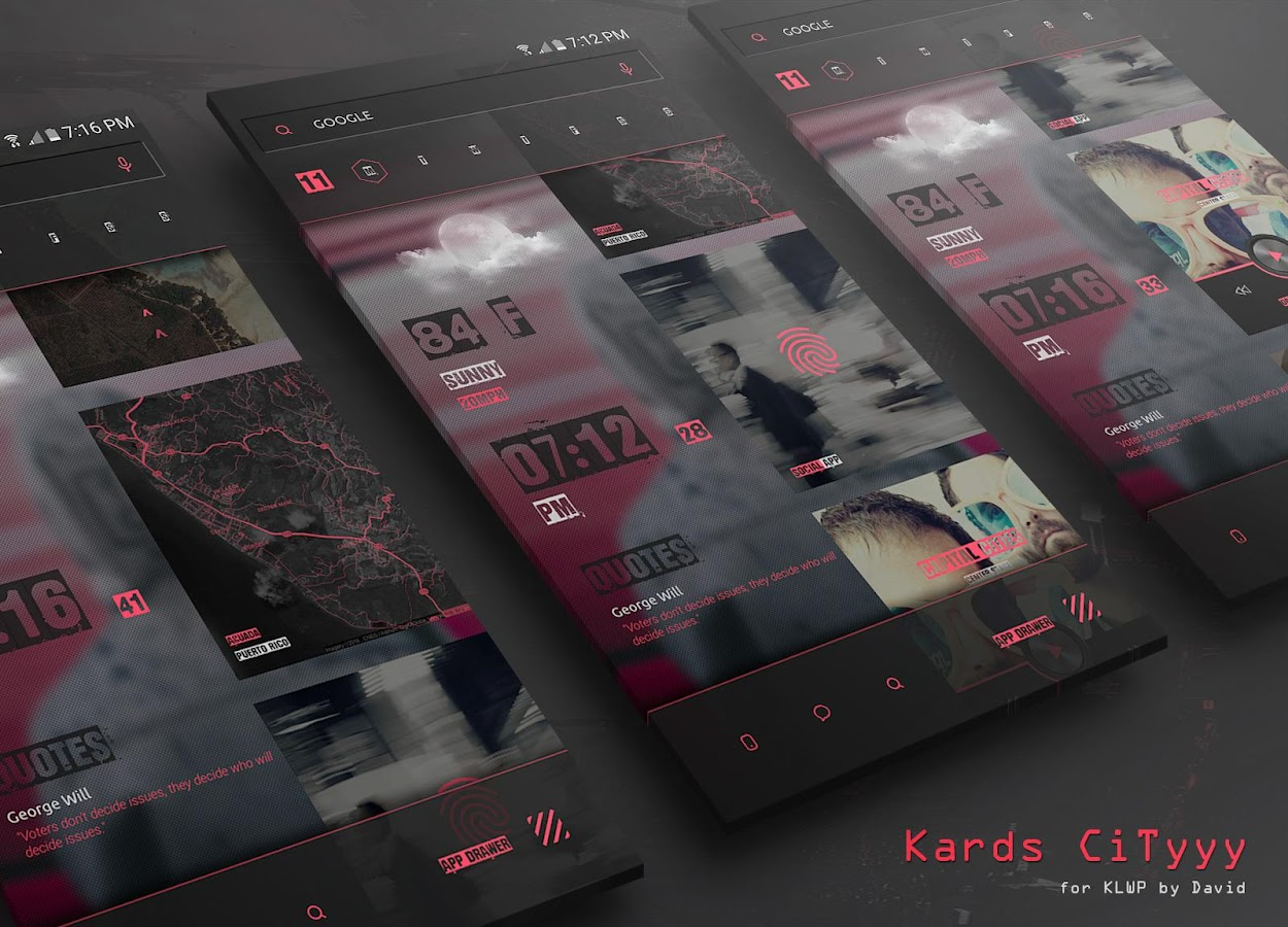 Kards CiTyyy for KLWP Screenshot 2