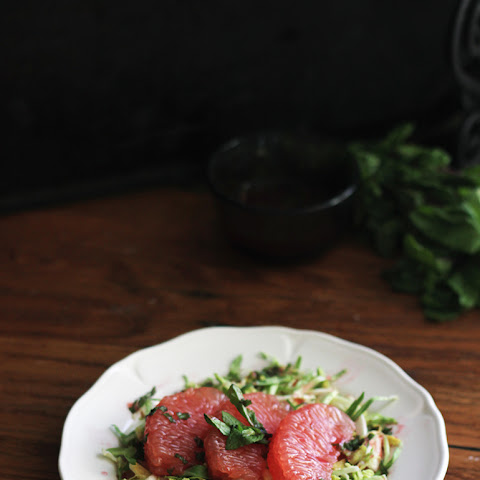Grapefruit Salad with Blood Orange Dressing
