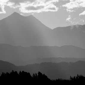 Marlborough Magic by Geoff Soper - Landscapes Mountains & Hills ( clouds, hills, mountain, black & white, ranges, black and white, b and w, landscape, b&w, monotone, mono-tone )