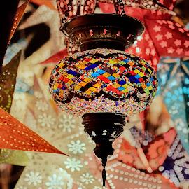 Aladdin lamp by Michaela Firešová - Artistic Objects Glass ( colorful, glass, lamp )