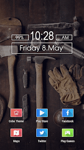 Tools Hammer Gloves Man Themes - screenshot