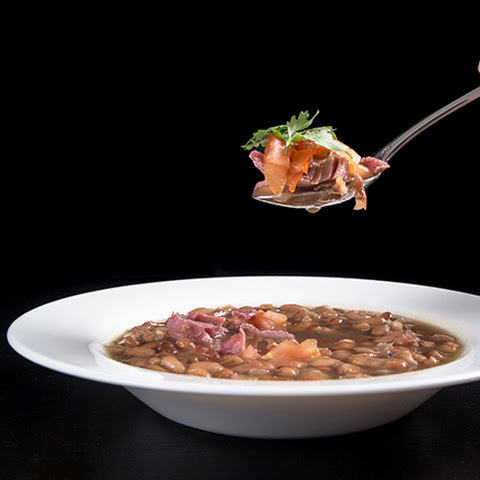 Pressure Cooker Smoky Ham Hock & Pinto Bean Soup