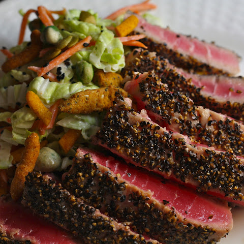 Ahi Tuna with Sweet and Spicy Asian Slaw