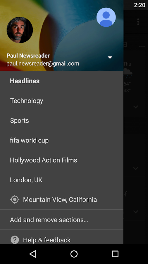 Google News & Weather Screenshot 4