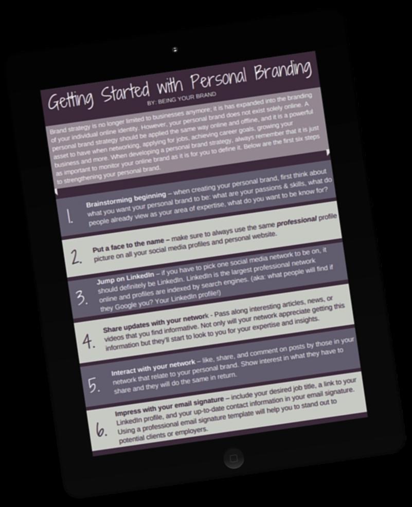 personal branding guide book
