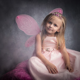 My Little Fairy  by April Sadler - Babies & Children Toddlers ( #child #fantasy #fairy #fog #wings #dress #dark )
