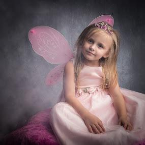 My Little Fairy  by April Sadler - Babies & Children Toddlers ( #child #fantasy #fairy #fog #wings #dress #dark )