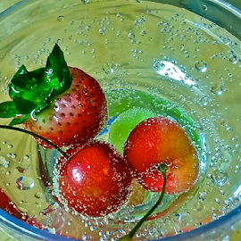 { Strawberry's ~ N Green Grapes ~ N Red Cherrys ~ 6 July ~ from Our Gardens  }  by Jeffrey Lee - Food & Drink Alcohol & Drinks ( { strawberry's ~ n green grapes ~ n red cherrys ~ 6 july ~ from our gardens  } )