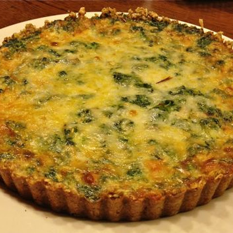 Gluten-Free Low Fat Spinach, Leek & Mushroom Quiche