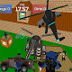 Pixel military vehicle battle