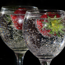 strawberry in glass by LADOCKi Elvira - Food & Drink Fruits & Vegetables