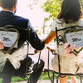 Just married  by Milica Veselinovic - Wedding Bride & Groom ( love, weddding, couple )