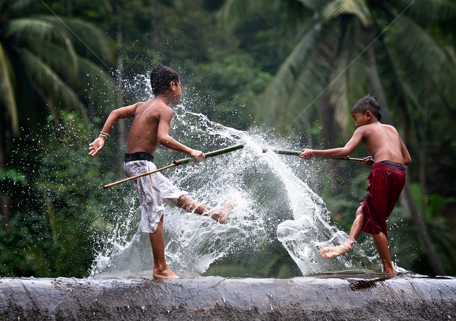 Water Splash by Pimpin Nagawan - Babies & Children Children Candids ( kids playing in summer, human interest )