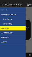 Screenshot of CLASSIC FM AUSTIN