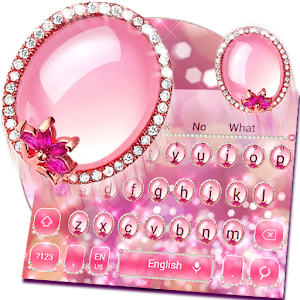 Glitter Pink Diamond Keyboard Theme